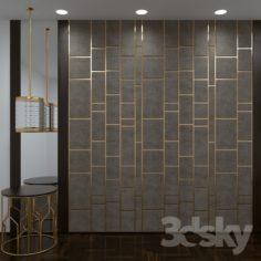 "Decor Panel ""Gray Tiles""                                      Free 3D Model"
