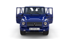 Mercedes Benz G Class with interior Blue 3D Model