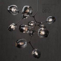Branching bubble 12 lamps DARK BLACK 3D Model