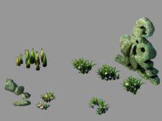 Forsaken Forest – Plant – Stone 21 3D Model