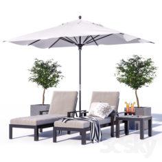 Indio Metal Outdoor Furniture Set 1                                      3D Model