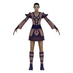 Game 3D Character – Female Taoist 01 3D Model
