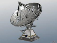 Damaged radar station 3D Model
