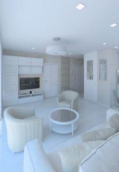 Lovely beautiful living room 3D Model