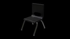 School Classroom Student Chair 3 3D Model
