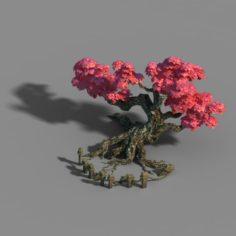 Small bamboo peak – bamboo trees 01 3D Model