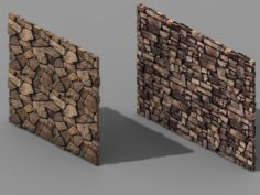 Brutal tribe – stone wall 9 3D Model