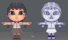 Girl SD 3D Model