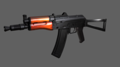 AK S74U 3D Model