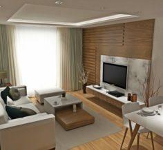 Livingroom and kitchen 3D Model