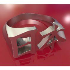 Japan Kanji ring 3D Model