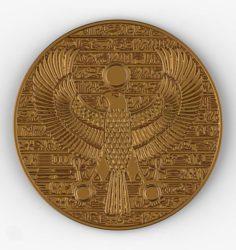 Horus ancient Egypt pendant gold coin jewelery 3D Model