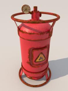 Gas ballon cylinder subdiv 3D Model
