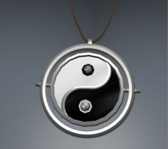 Amulet of Yin-Yang 3D Model