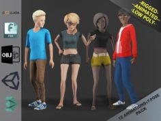 Cartoon Characters Pack3 3D Model