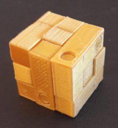 Casse tte cube 3 par 3 avec perage de montage V2 3D Model