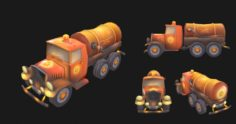 Sewer Truck – low poly 3D Model