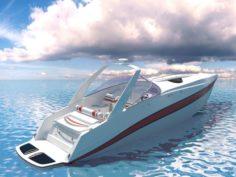 Motorboat Riva-Boat 3D Model