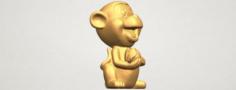 Cute Monkey 3D Model