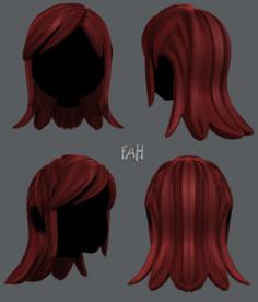 3D Hair style for girl V17 3D Model