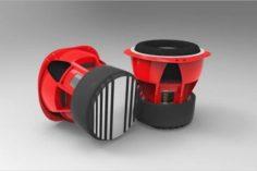 Car Audio – Bajo Orion 3D Model