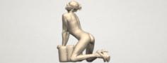 Naked Girl B07 3D Model