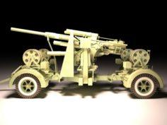 FlaK 88mm 3D Model