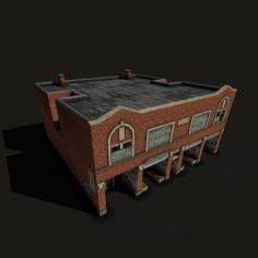Derelict Brick House 3D Model