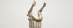 Naked Girl B08 3D Model