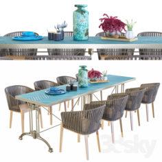 Tribu Outdoor Furniture Set                                      3D Model