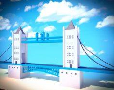 Low poly london 3D Model