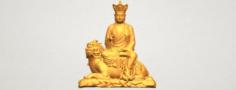 Avalokitesvara Bodhisattva – Sit on Lion 3D Model