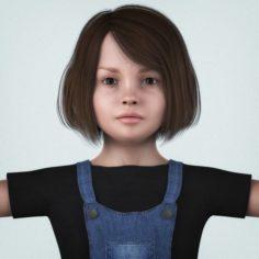 Beautiful Little Girl 3D Model