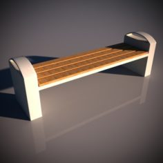 Bench 02 3D Model