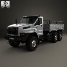 Ural Next Flatbed Truck 2016 3D Model