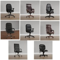 Kit – Office Chairs Executive Design – By JD3Dstudio 3D Model
