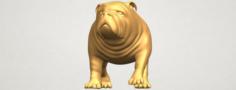 Bull Dog 01 3D Model