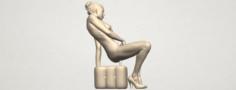 Naked Girl B02 3D Model