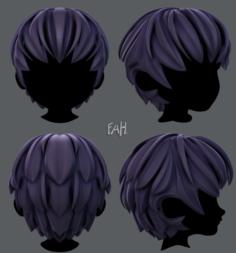 3D Hair style for boy V21 3D Model