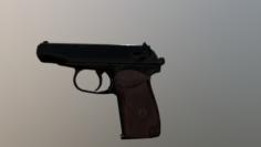 Makarov Low poly BBR 3D Model