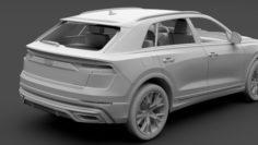 Audi Q8 55 TFSI quattro S line 2018 3D Model