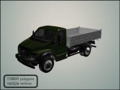 GAZon Next 2014 Flatbed Truck 3D Model