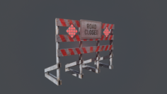 Road Closed 3D Model