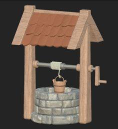 Cartoon stone well 3D Model