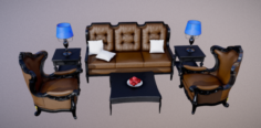 Furniture Set Classic 3D Model