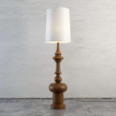 Figured Leg Floor Lamp 3D Model