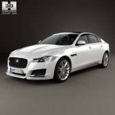 Jaguar XF 2016 3D Model