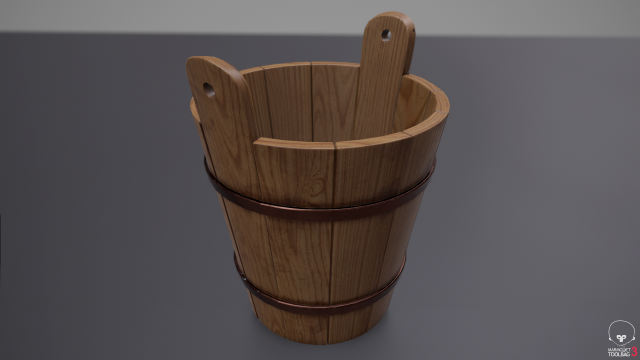 Rustic Old Bucket 3D Model