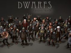 8 pack horde and human 3D Model