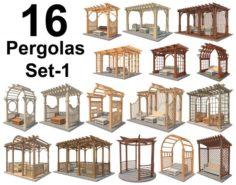 16 Pergolas Set 1 3D Model